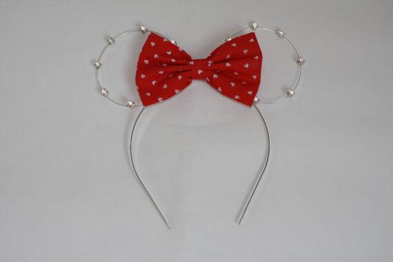 Rhinestone Minnie Mouse Headband, Minnie ears, Disney Ears, Minnie Headband