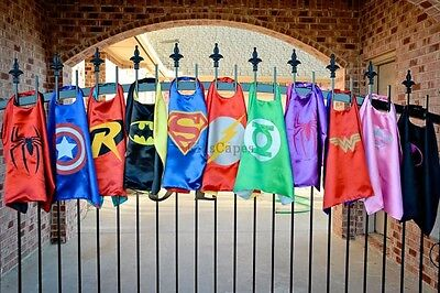Superhero Cape (1 cape+1 mask) for kids birthday party favors and ideas ` gift   - Superhero Party Ideas