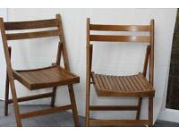 NEW WOODEN GARDEN CHAIRS SET 2 NEVER USED