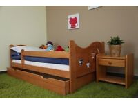 NEW Wooden Kids/Toddler Bed with Mattress & Drawer