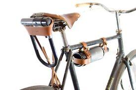 Oopsmark black leather bike U lock Holder