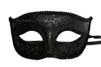 Charming Men's Black Masquerade Ball Mask - Minimal & Classic Mask Blank Mask (Black Mens Masquerade Masks)
