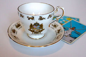 REGAL BONE CHINA-SIGNS OF THE ZODIAC TEACUPS