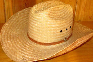 Western Palma Straw cowboy hat for sale.       Truro