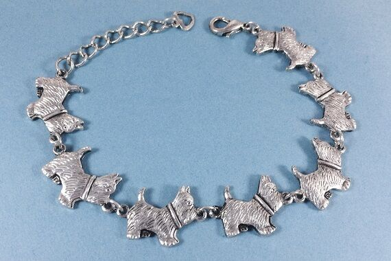 Adjustable Norwich Terrier  Dog Breed Bracelet antique silver plated