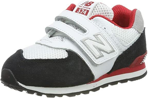 New Balance 574 Black White Red Baby Boys Girls Toddler Infa