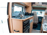 Elldis Autoquest 180 motorhome for hire - Available for Glastonbury 2017