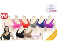 Ladies sports bra black,beige and white only.Total quantity 50.