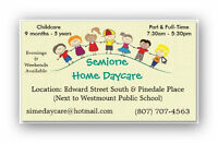 Home Daycare - Space Available