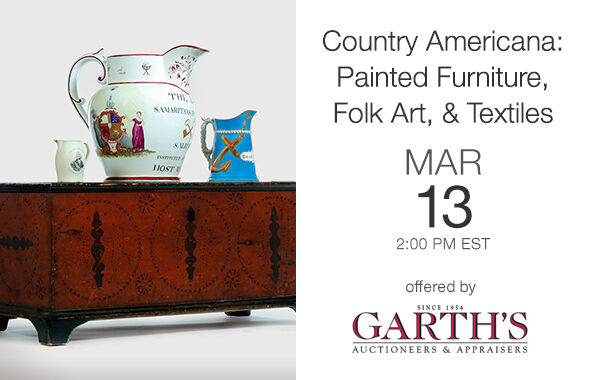 Country Americana: Painted Furniture, Folk Art & Textiles