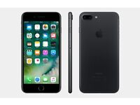 iPhone 7 Plus 32GB Matte Black **UNLOCKED** (two months old)