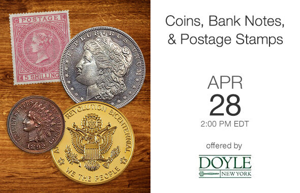 Coins, Bank Notes, & Postage Stamps