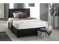LUXURY BED SET + MATTRESS + HEADBOARD SIZE 3FT 4FT6 Double 5FT King