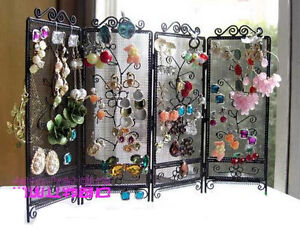 Black-Screen-Earring-Storage-Ear-Pin-Organizer-Display-Hanging-Jewelry-Holder