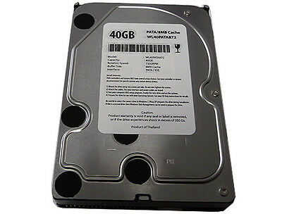 40gb 7200rpm 8mb Cache 3.5 (ata/100) Pata Ide Hard Drive -free Shipping