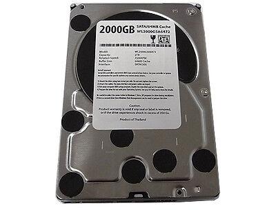2-terabyte 2tb 32mb Cache 7200rpm Sata2 3.5 Hard Drive Dvr/pc-free Shipping