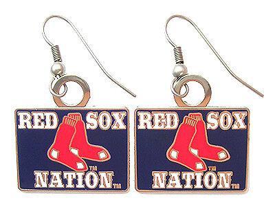 Boston Red Sox Nation MLB Logo Earrings