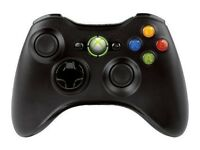 black xbox 360 wireless controller