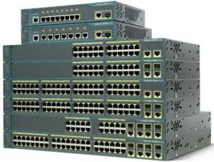 Cisco Switches and Routers! Gigabit, PoE, Layer 2 & 3, 10Gb - wiped and tested - Comes with ears, cables