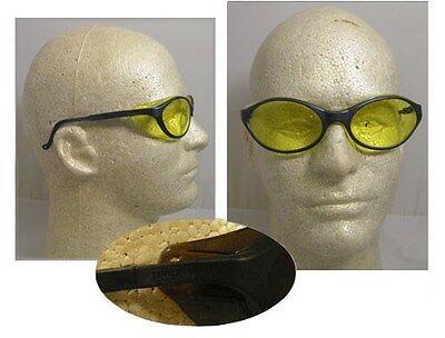 Uvex Bandit Safety Glasses - Slate Blue Frame With Amber Lens