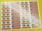 Scalextric Slot Cars Decals