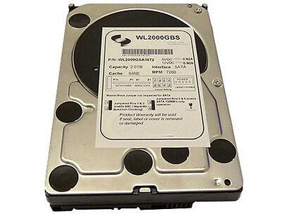 "White Label 2TB [64MB Cache] 7200RPM SATA/II 3.5"" Destkop Hard Drive -PC/Mac/DVR"