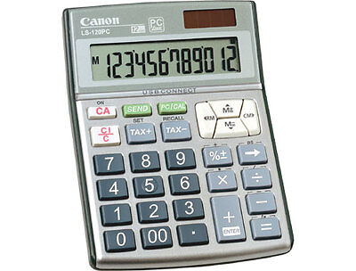 New CANON LS-120PC PC Hand Held Tax Calculator / Keypad 12 Digit USB