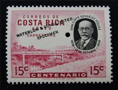 Nystamps Costa Rica Stamp Waterlow Color Proof Mint Og Nh Only 100 Exist