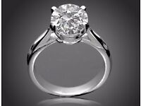 5.66 CUT Solitaire Round Diamond Engagement Ring G/SI1 WHITE 18K Gold Enhanced