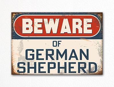 (Beware of German Shepherd Dog Breed Cute Fridge Magnet)