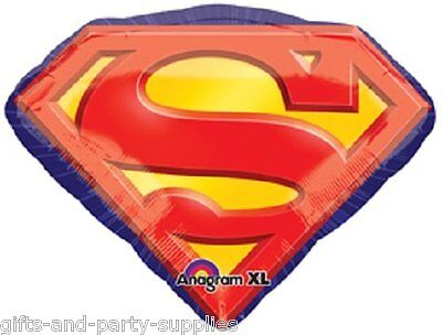 SUPERMAN BALLOON EMBLEM BIRTHDAY Party Decoration Supplies DC Comic Heroes Logo - Superman Party Decorations