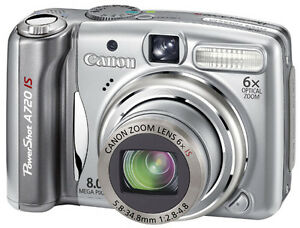Canon PowerShot A720IS 8MP Camera Digital