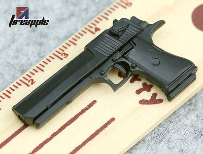 U.S.A 1/6 Desert Eagle Miniature Pistol Weapon Model Black Hand Gun F 12