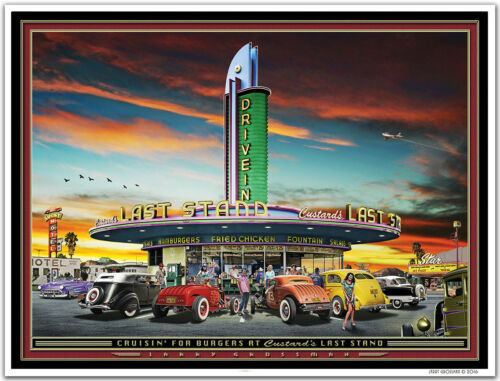 Hot Rod Art Print by Larry Grossman CRUISIN