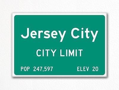 Jersey City City Limit Sign Fridge Magnet