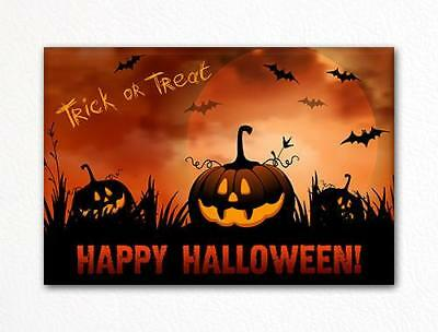 Halloween Pumkin Patch Trick or Treat Fridge Magnet - Halloween Pumkin