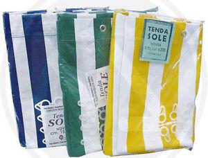 Tenda tende da sole occhiellate in cotone telato for Tende da sole usate ebay