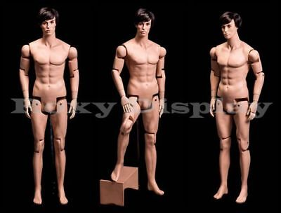 Male Mannequin Dress Form Display With Flexible Head Arms And Legs Hm01-mz