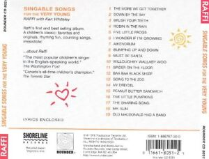 Raffi : Singable Songs for the Very Young CD