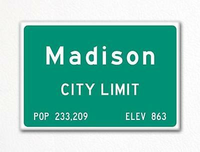Madison City Limit Sign Fridge Magnet