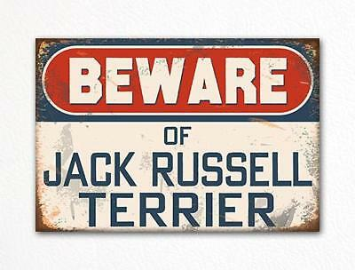 Beware of Jack Russell Terrier Dog Breed Cute Fridge Magnet