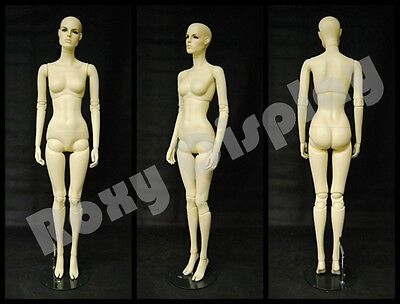 Female Fiberglass Mannequin With Two Interchangeable Heads Display Mz-abf4