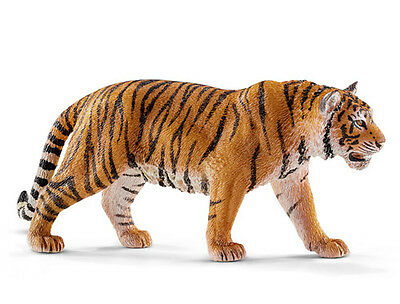 Schleich 14729 Tiger Walking Wild Animal Toy Model Figurine - NIP