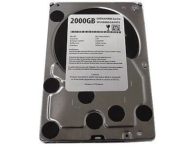 "New 2-Terabyte 2TB 32MB Cache 7200RPM SATA2 3.5"" Hard Drive DVR/PC-FREE SHIPPING"