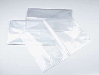 12x18 - 1 Mil. Clear Plastic Flat Open Poly Bag 200 Pack Magicwater Supply