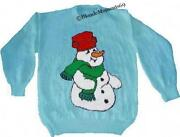 Knitting Patterns Christmas Jumpers Snowman