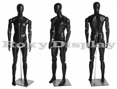 Male Mannequin Dress Form Display With Flexible Head Arms And Legs Mz-hm01bkeg
