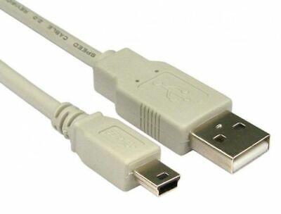 Mini Data Cable Power Lead To USB 2.0 Lead A Plug 1.8m...
