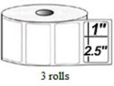 2.5x1 Direct Thermal Labels Pos 2824 2844 Zp 450 3 Rolls 4125 Quick Books