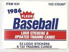 1986 Fleer Baseball